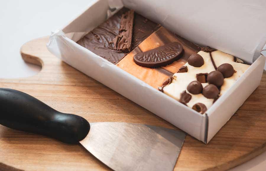 Sticky handmade fudge delivered to your door