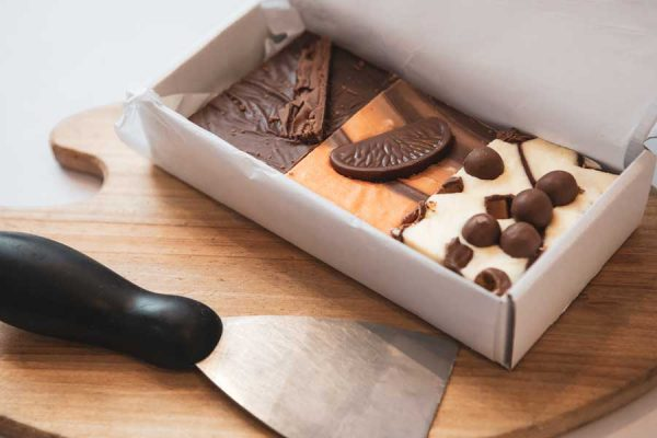 Box of 3 deliciously tasty assorted handmade fudge by Sticky Chocolate Ltd
