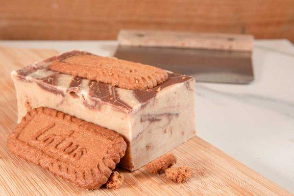 Lotus Biscoff Biscuit Handmade Fudge by Sticky Chocolate Ltd