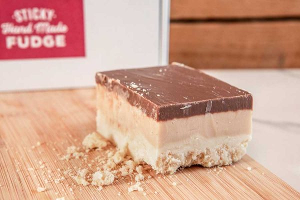 Millionaire's Shortbread, 3 layers of delicious handmade fudge - Belgian chocolate, caramel & vanilla, a marvellous mouthful