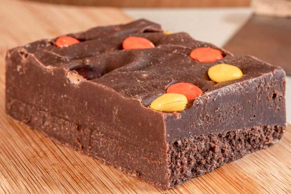 Deliciously smooth Reece's Peanut Butter Handmade Chocolate Fudge