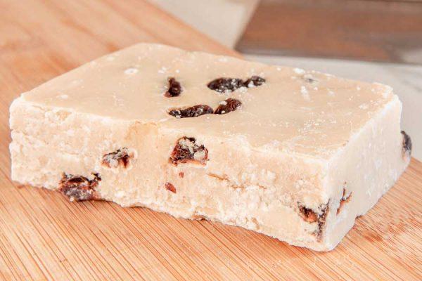 The perfect blend of Belgian chocolate & dark rum - Rum & Raisin Handmade Fudge