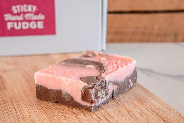 The rich rose flavour of Turkish Delight Handmade Fudge