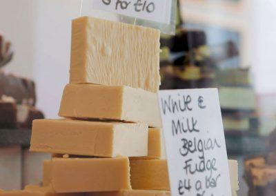 White & Milk Belgian Homemade Fudge by Sticky Chocolate Ltd