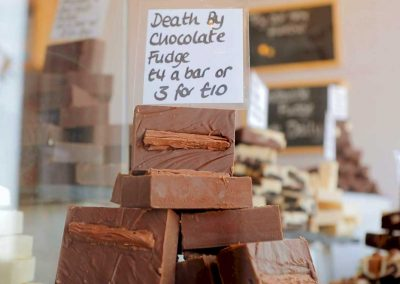 Check out our handmade fudge display in our Blackpool store